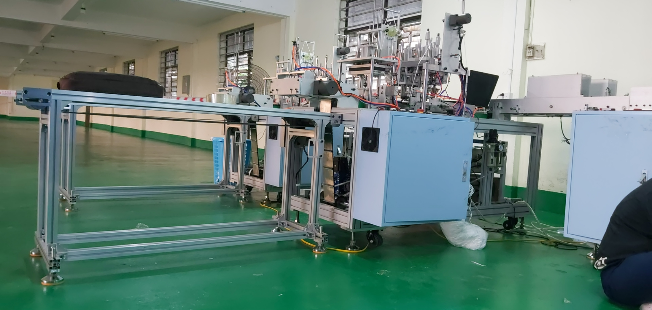 Install masking machine production line