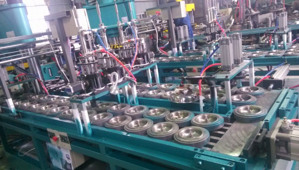 Installation grinding wheel production line